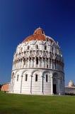De doopkapel van San Giovanni in Pisa Stock Afbeelding