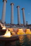 De Doopvont Magica van Barcelona of Magische Fontein Stock Foto's