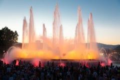 De Doopvont Magica van Barcelona of Magische Fontein Royalty-vrije Stock Afbeeldingen