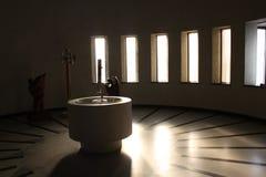 De doopvont van Christerning Stock Afbeeldingen