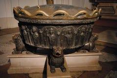 De Doopvont van de Kathedraal of Dom van Salzburg in Oostenrijk Stock Foto's