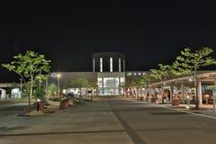 de doopvont van de post van Hakodate van de jRspoorweg bij nacht Stock Afbeeldingen
