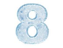 De doopvont van het ijs. Nummer acht stock illustratie
