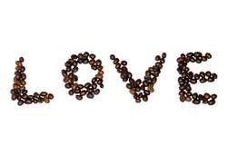 De doopvont van koffiebonen Stock Afbeeldingen