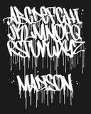 De Doopvont van de tellersgraffiti, met de hand geschreven Typografie vectorillustratie stock illustratie