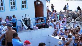 De doopvont van Wijwater. Stock Fotografie