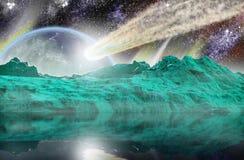 De doorgang van de meteoriet royalty-vrije illustratie