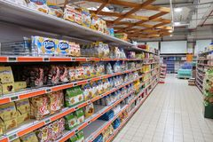 De doorgang van het supermarktkoekje Royalty-vrije Stock Foto's