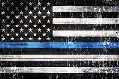 De Doorstane Achtergrond van de politiesteun Vlag royalty-vrije stock foto