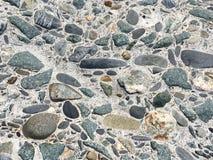 De doorstane concrete achtergrond van steenstenen Stock Foto