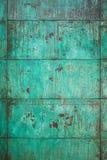 De doorstane, geoxydeerde structuur van de kopermuur stock afbeelding