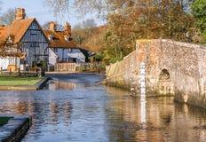 De doorwaadbare plaats in Eynsford royalty-vrije stock afbeelding