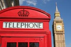 De doos en de Big Ben van de telefoon Stock Foto's