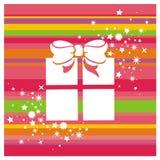 De doos en de sterren van de gift Stock Afbeeldingen
