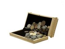 De doos met het geld. Royalty-vrije Stock Afbeeldingen