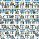 De doos naadloos patroon van de gift Royalty-vrije Stock Afbeelding