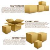 De doos stelt samen Stock Afbeeldingen