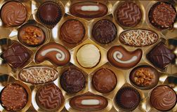 De doos van de chocolade Stock Foto
