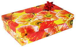 De doos van de gift Stock Foto's