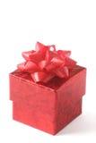 De doos van de gift die op wit wordt geïsoleerdo Royalty-vrije Stock Afbeelding