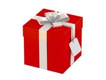 De doos van de gift met een etiket Stock Fotografie