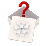 De doos van de gift met een verrassing Royalty-vrije Stock Afbeelding