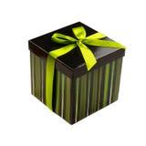 De doos van de gift met groen lint Royalty-vrije Stock Afbeeldingen