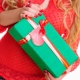 De doos van de gift met hart Stock Afbeelding