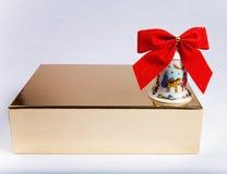 De doos van de gift met klok Royalty-vrije Stock Afbeelding
