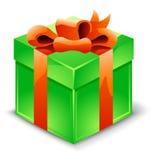 De doos van de gift met lint Stock Afbeelding
