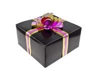De doos van de gift op witte achtergrond wordt geïsoleerds die Royalty-vrije Stock Afbeelding