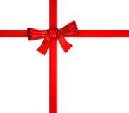 De doos van de gift - rood lint Royalty-vrije Stock Foto