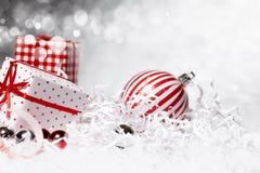 De Doos van de Gift van Kerstmis stock afbeelding