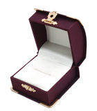 De doos van de gift voor ring Stock Fotografie