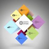 De doos van de Infographickubus voor bedrijfs moderne concepten, Stock Afbeelding