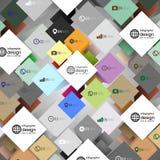 De doos van de Infographickubus voor bedrijfs moderne concepten, Royalty-vrije Stock Fotografie