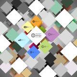 De doos van de Infographickubus voor bedrijfs moderne concepten, Royalty-vrije Stock Foto's