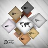 De doos van de Infographickubus voor bedrijfs moderne concepten, Stock Foto's