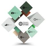 De doos van de Infographickubus voor bedrijfs moderne concepten, Stock Afbeeldingen
