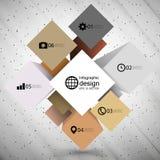 De doos van de Infographickubus voor bedrijfs moderne concepten, Royalty-vrije Stock Foto