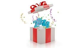 De doos van de Kerstmisgift met Stock Foto
