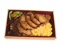De doos van de lunch het knippen weg Stock Fotografie