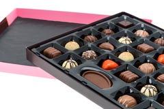 De doos van de luxe chocolade Royalty-vrije Stock Foto's