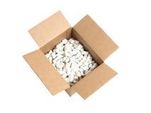 De doos van de pinda Stock Foto's