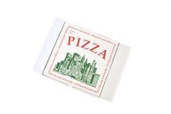 De doos van de pizza Stock Afbeeldingen