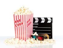 De doos van de popcorn met kleppenraad Stock Foto