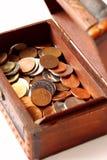 De doos van de schat Stock Foto's