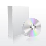 De doos van de software en CD Stock Afbeelding