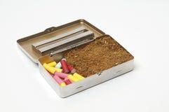 De doos van de tabak Stock Afbeelding
