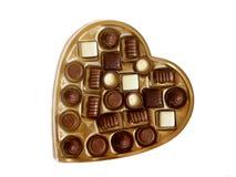 De doos van de valentijnskaart cholocate Stock Fotografie